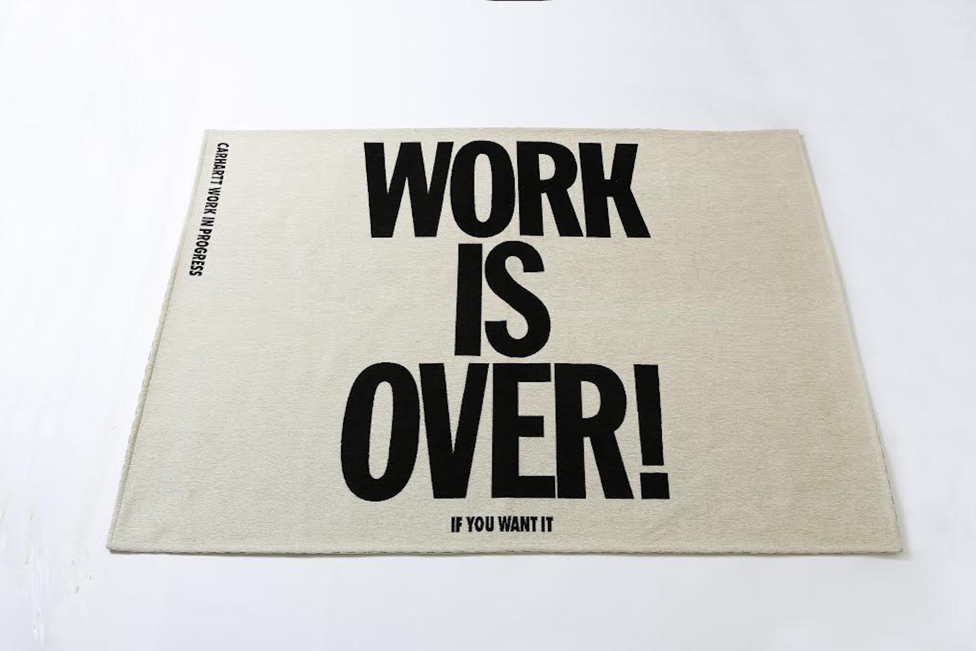 WORK IS OVER RUG 140*200 ¥26,000(税抜)