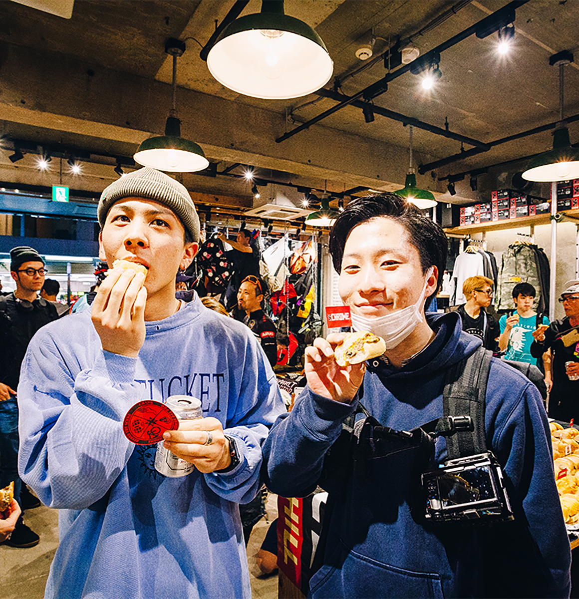 Chrome_boys_eating