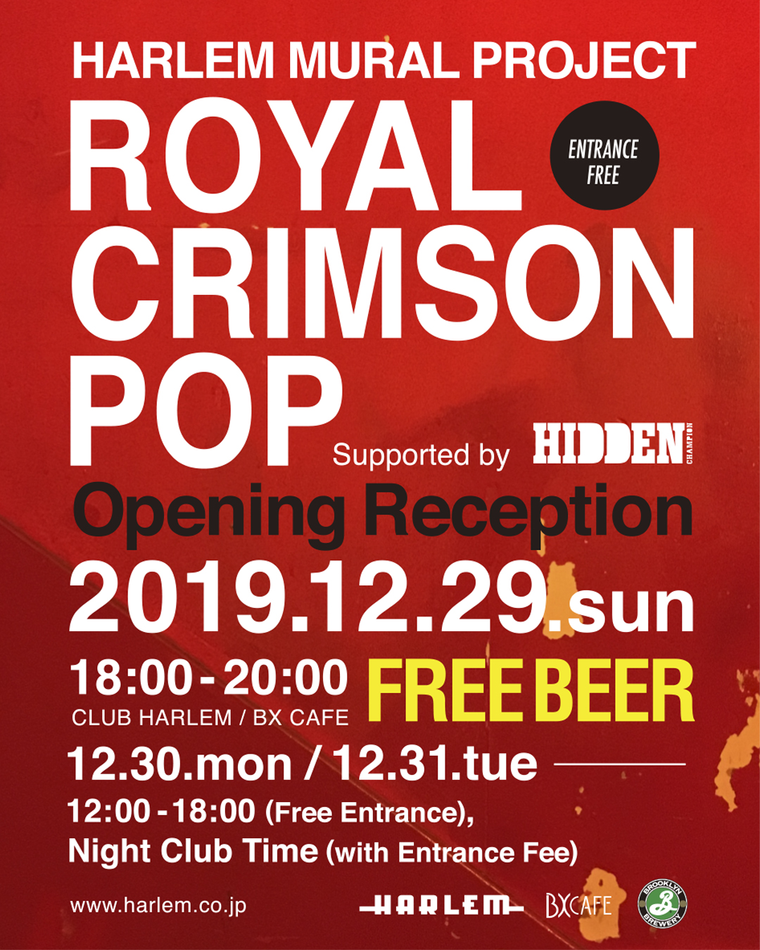 """ROYAL CRIMSON POP"" Supported by HIDDEN CHAMPION"