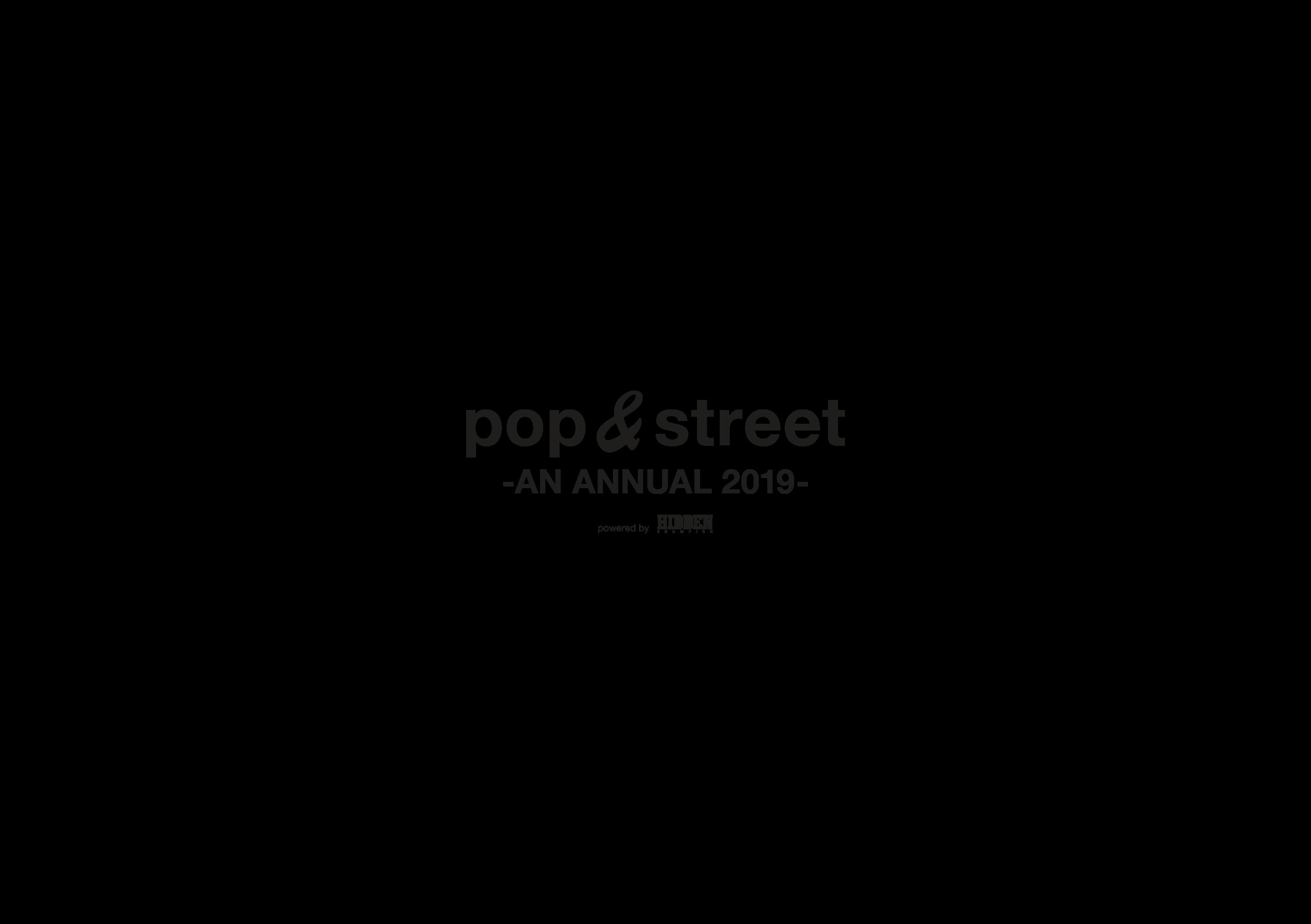 pop&street -AN ANNUAL 2019