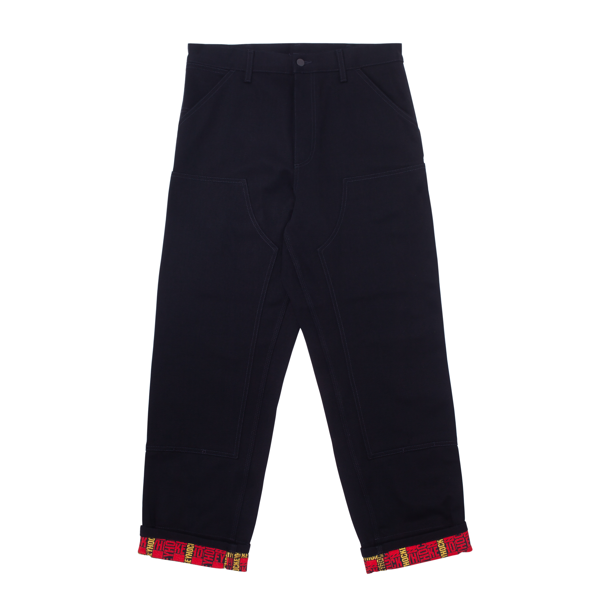 2021_HockeyCarhartt_Collaboration_GraphicDetail_Apparel_WorkPant_Black_Front